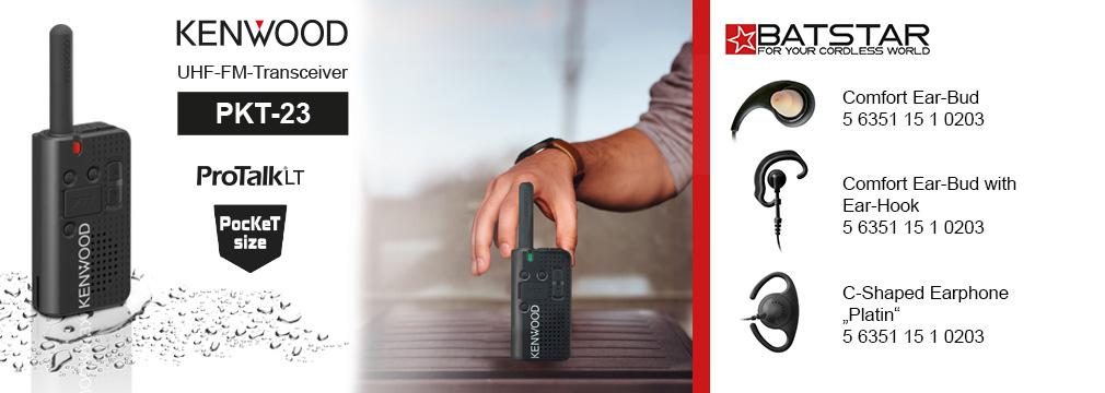 Kenwood PKT-23 PMR446 lizenzfreier Funk BATSTAR Ohrhörer