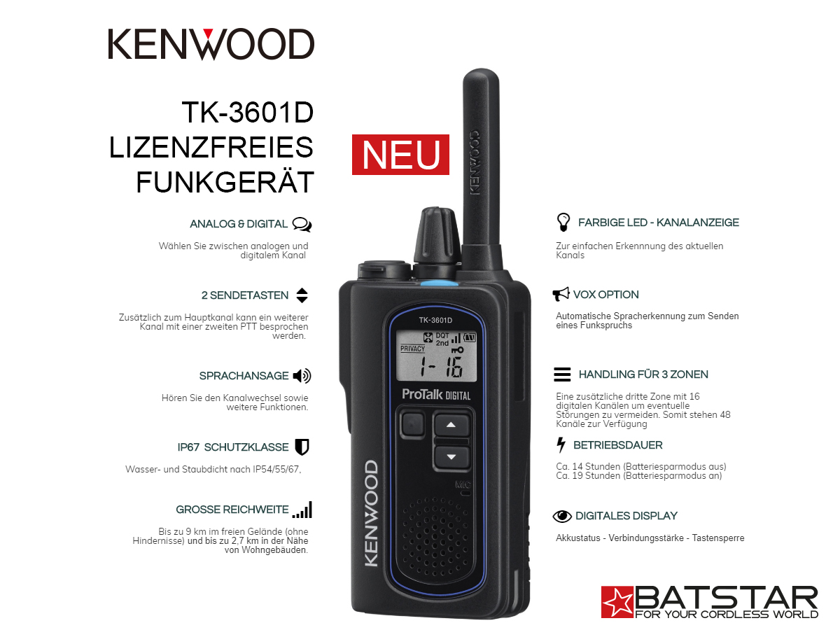 TK-3601D Kenwood Funkgerät digital & analog
